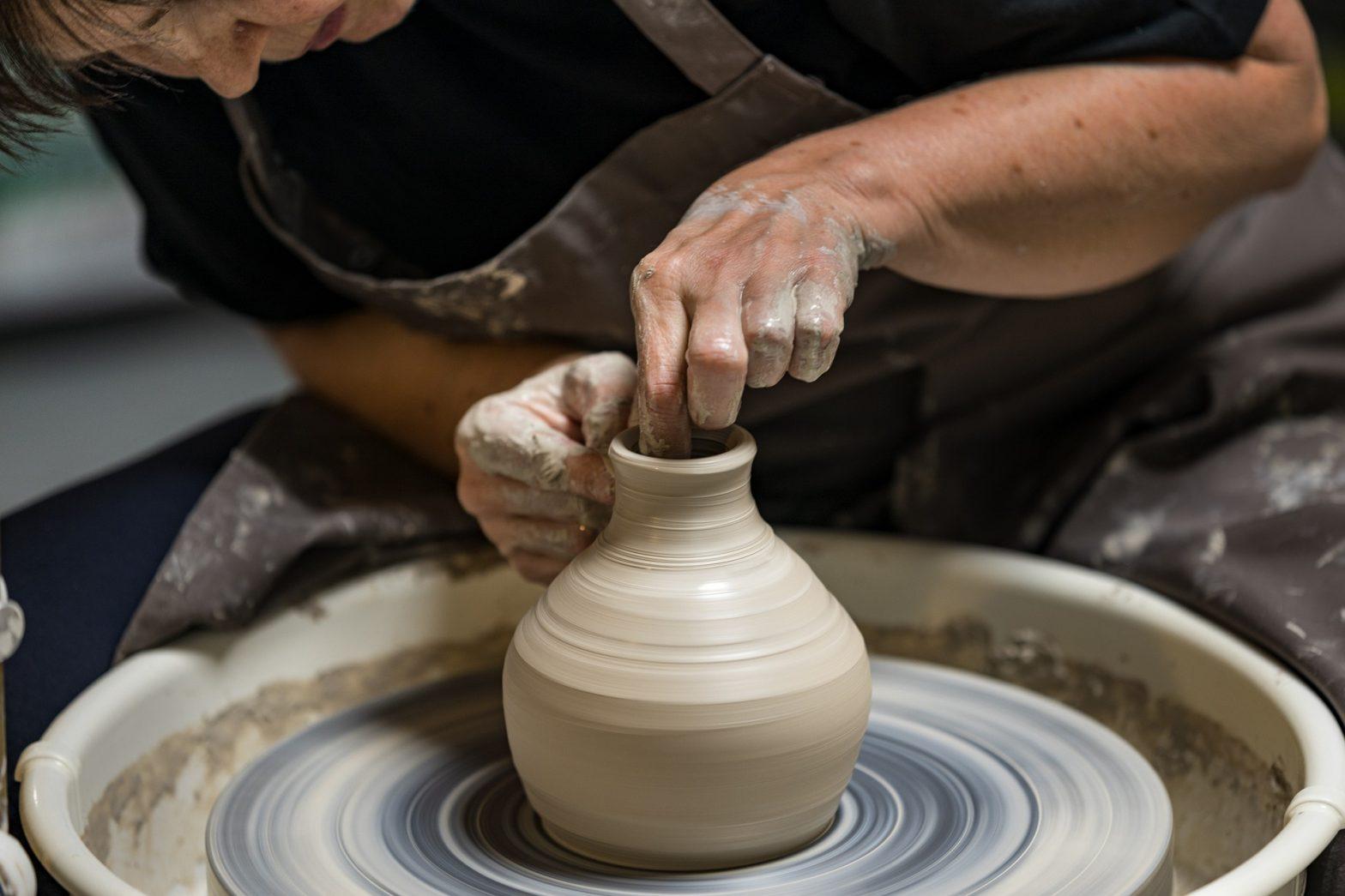 Potter Making Vase